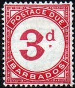 Barbados 1934 Post Due SG D3 Fine Mint