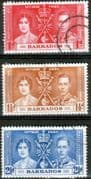 Barbados 1937 King George VI Coronation Set Fine Used