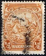 Barbados 1938 Badge of the Colony SG 248c Fine Used