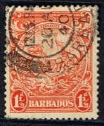 Barbados 1938 Badge of the Colony SG 250 Fine Used