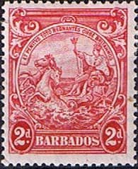 Postage Stamps Barbados 1938 Badge of the Colony SG 250d Fine Mint Scott 195B