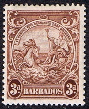 Barbados 1938 Badge of the Colony SG 252b Fine Mint