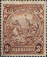 Barbados 1938 Badge of the Colony SG 252b Fine Used