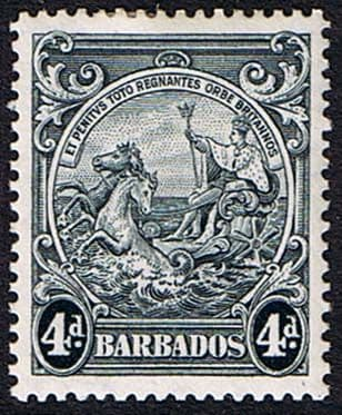 Postage Stamps Postage Stamps Barbados 1938 Badge of the Colony SG 253 Fine Mint SG 253 Scott 198