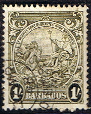 Postage Stamps Barbados 1938 Badge of the Colony SG 255a Used Mint  SG 255a Scott 200