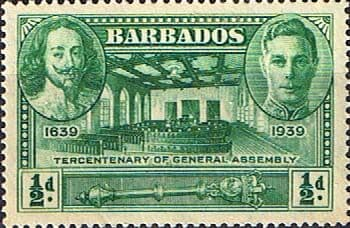 Barbados 1939 SG 257 Tercentenary of General Assembly Fine Mint