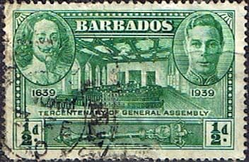 Barbados 1939 SG 257 Tercentenary of General Assembly Fine Used