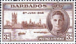 Barbados 1946 King George VI Victory SG 263 Fine Mint
