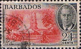 Barbados 1950 SG 278 Old Main Guard Garrison Fine Used