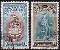 Barbados 1951 British West Indies University College Set Fine Used