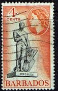 Barbados 1953 QE II SG 292 Statue of Nelson Fine Used