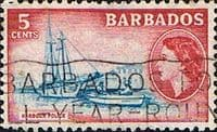 Barbados 1953 QE II SG 293 Harbour Police Fine Used