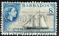 Barbados 1953 QE II SG 295 Frances W. Smith Schooner Fine Used