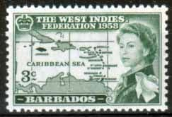 Barbados 1958 BWI Federation SG 303 Fine Mint