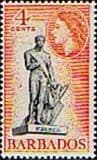 Barbados 1964 QE II SG 313 Statue of Nelson Fine Mint