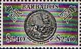 Barbados 1964 QE II SG 319 Great Seal of State Fine Mint