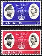 Barbados 1966 Caribbean Royal Visit Set Fine Mint