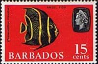 Barbados 1966 QE II SG 350 Grey Angelfish Fine Mint