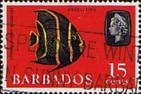 Barbados 1966 QE II SG 350 Grey Angelfish Fine Used