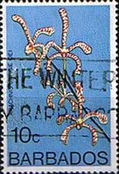 Stamps Barbados 1974 Orchids SG 491 Fine Used Scott 402