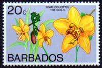 Barbados 1974 Orchids SG 493b Mint