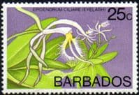Barbados 1974 Orchids SG 494 Fine Mint