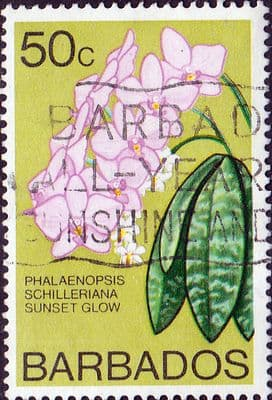 Stamp Stamps Barbados 1974 Orchids SG 495 Fine Used Scott 406