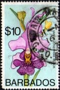 Barbados 1974 Orchids SG 500 Fine Used