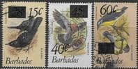 Barbados 1981 Birds Surcharged Set Fine Used
