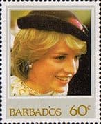 Barbados 1982 21st Birthday of Princess of Wales SG 706 Fine Mint