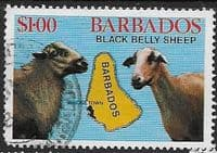 Barbados 1982 Black Belly Sheep SG 696 Fine Used