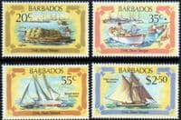 Barbados 1982 Early Marine Transport Set Fine Mint