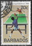 Barbados 1983 Table Tennis World Cup Competition SG 734 Fine Used