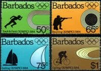 Barbados 1984 Olympic Games Set Fine Mint