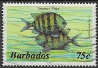 Barbados 1985 Fish SG 805B Fine Used