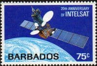 Barbados 1985 Intelsat Satellite System Fine Mint