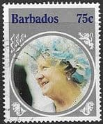 Barbados 1985 Queen Mother Life and Times SG 779  Fine Used