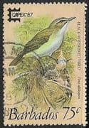 Barbados 1987 Capex87 Birds SG 839 Fine Used
