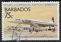 Barbados 1989  50th Anniversary of Commercial Aviation in Barbados SG 878 Fine Used