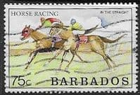 Barbados 1990  Horse Racing SG 917 Fine Used