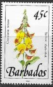 Barbados 1990  Wild Plants SG 927 Fine Mint