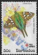 Barbados 1991  Phila Nippon 91 Butterflies SG 961 Fine Used