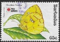 Barbados 1991  Phila Nippon 91 Butterflies SG 962 Fine Used