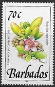 Barbados 1991  Wild Plants SG 900 Fine Mint