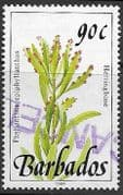Barbados 1991  Wild Plants SG 900a Fine Used