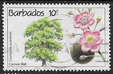Barbados 1992 Conservation. Flowering Trees SG 975 Fine Used