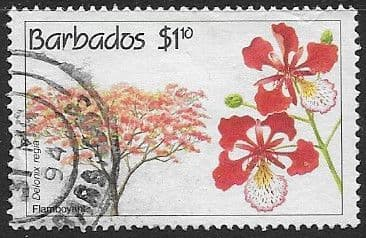 Barbados 1992 Conservation. Flowering Trees SG 978 Fine Used