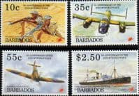 Barbados 1995 End of Second World War Set Fine Mint