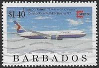 Barbados 1996 Aircraft SG 1092 Fine Used