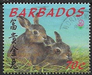 Barbados 1999 Hares SG1147 Fine Used